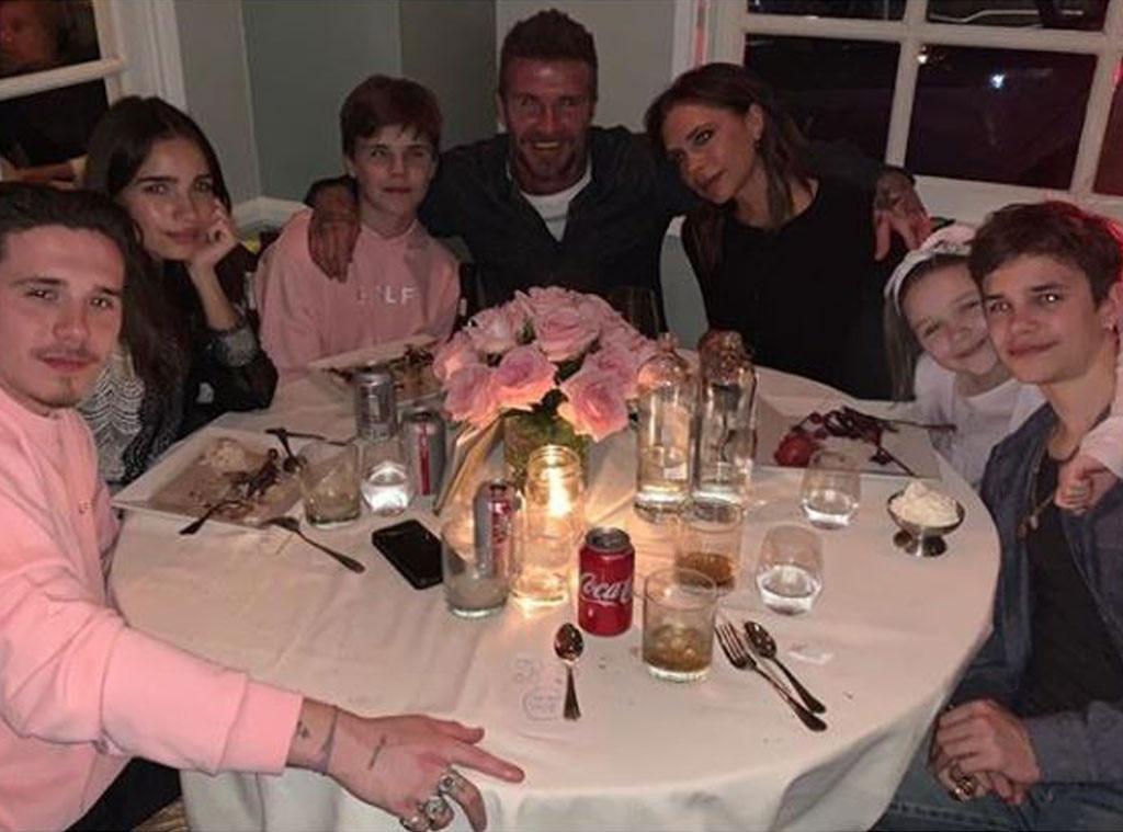 David Beckham, Victoria Beckham, Brooklyn Beckham, Romeo Beckham, Cruz Beckham, Harper Beckham