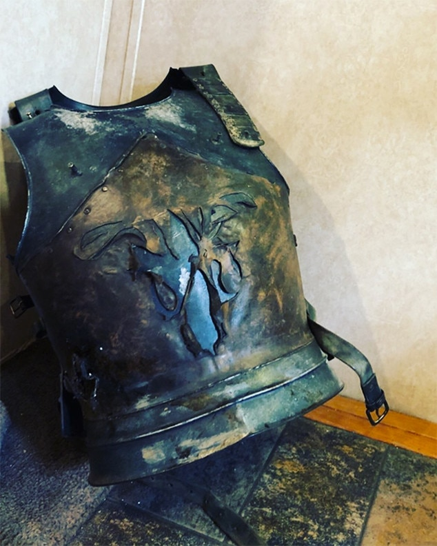 Farewell Theon -  Actor Alfie Allen  posted  this image of Theon's armor on Instagram with a simple caption: the broken heart emoji.