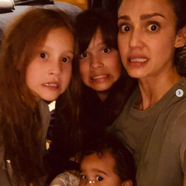 """Jessica Alba -  The mom of three got ultra candid about a recent emergency poop in the tub situation. """"When my 1 yr old poops in the tub and I ask my 7 & 10 yr old to clean it for me b/c... #imbaby #ihatewetpoo #momlifebelike#honestlynotkillingtheparentinggame #adultingishard #sendhelp,"""" she wrote to her fans."""