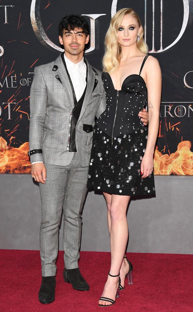 Joe Jonas, Sophie Turner, Game of Thrones Season 8 Premiere