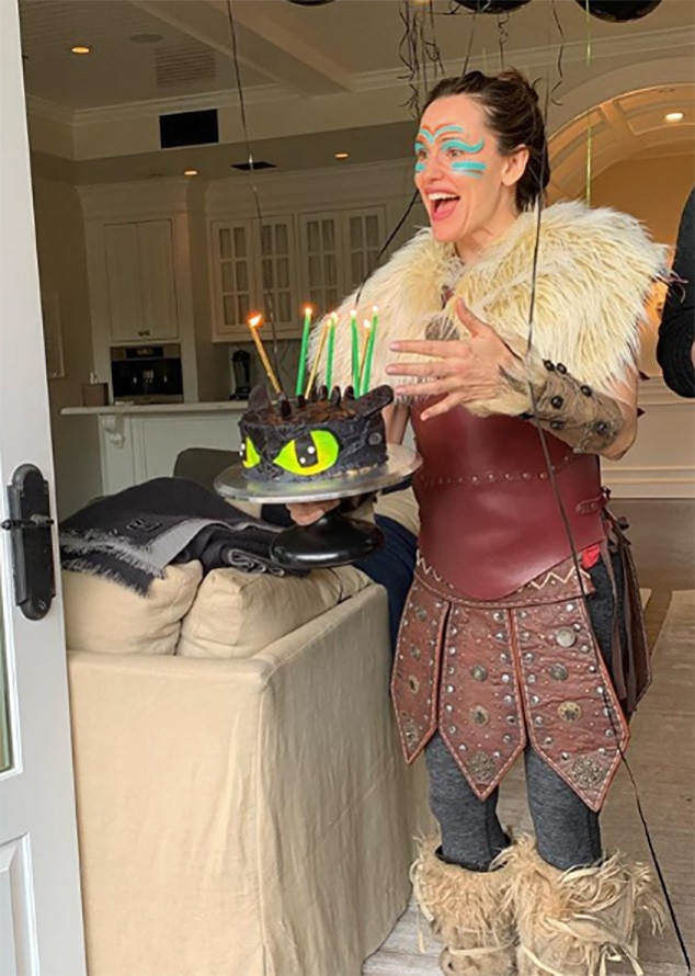 """Jennifer Garner -  When the actress dressed up in costume for her son  Samuel 's birthday party, she had a rude awakening. """"Well, guess what. It turns out 7 is the age my kid stops thinking it's cool when I dress up for the party,"""" she wrote on Instagram along with a snap of herself in the getup."""