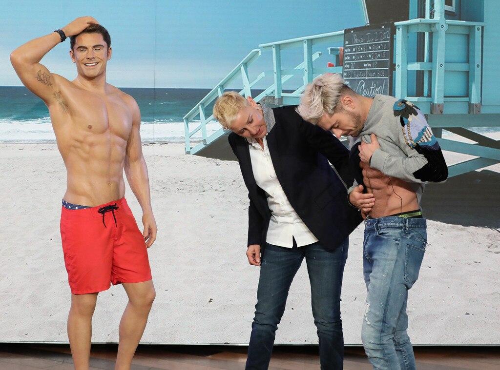 Zac Efron, Ellen, Wax Figure