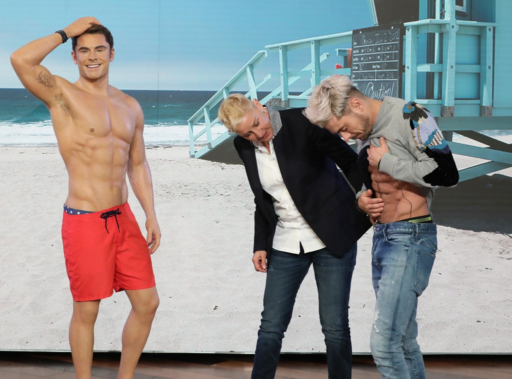 Zac Efron, Ellen, Wax Figure