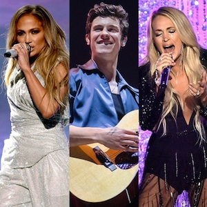 Jennifer Lopez, Shawn Mendes, Carrie Underwood