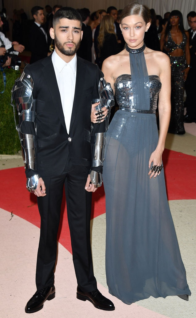 """Gigi Hadid & Zayn Malik -  Fans suspected the supermodel and the singer broke up at the end of 2018, and a source told E! News the two are """"spending time apart"""" earlier this year."""