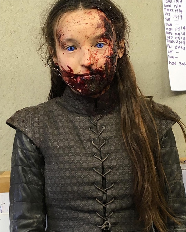 RIP -  Bella Ramsey  posted  this behind-the-scenes photo as part of a tribute to her character, Lyanna Mormont.