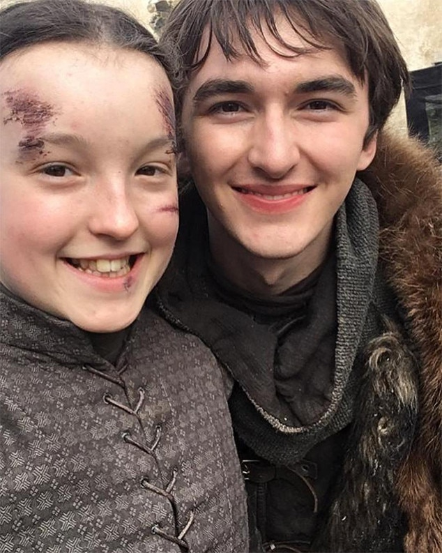 The North Remembers -  To celebrate her time on the series, Bella Ramsey  posted  a number of behind-the-scenes photos, including this one with Isaac Hempstead Wright.