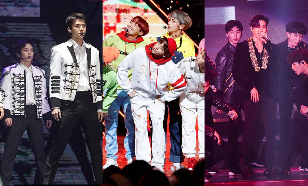 EXO, BTS, GOT7