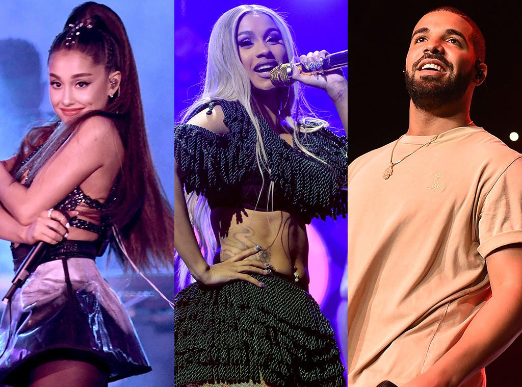 Ariana Grande, Cardi B, Drake