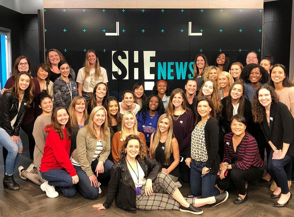 "Giuliana Rancic -  ""This...is E! News ✨ Celebrating these incredibly talented and remarkable women who help make @enews what it is each and every night. Honored to be part of your team, ladies ✨ #internationalwomensday"""