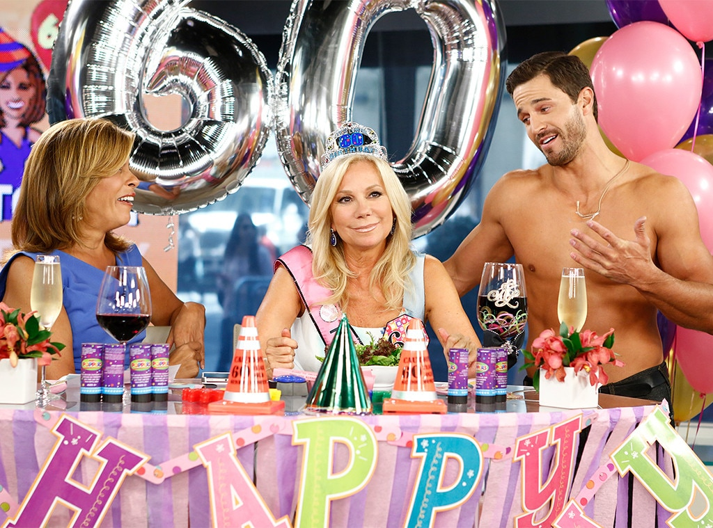 A 60th Celebration -  Kathie Lee celebrated a milestone birthday on the air on August 16, 2013, and Today went all out. There were plenty of flowers and balloons and, of course, drinks, while beloved hubby  Frank Gifford  stopped by for a visit.