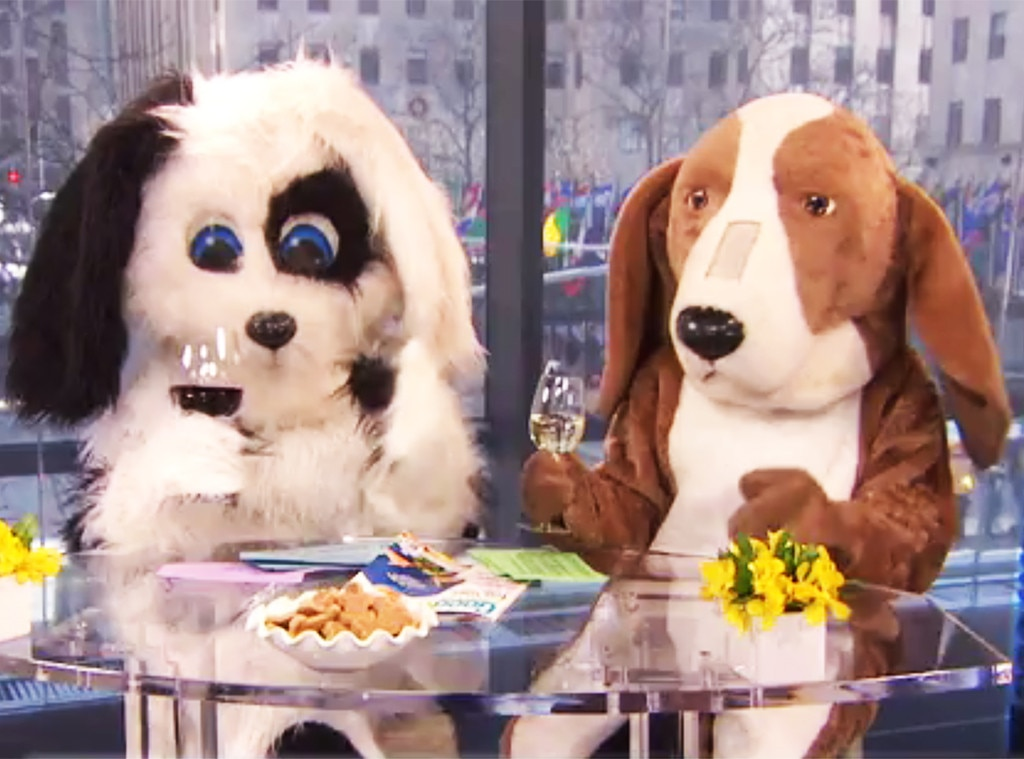 Puppy Love -  The March 12, 2013 episode kicked off with both women inside full-body dog costumes.