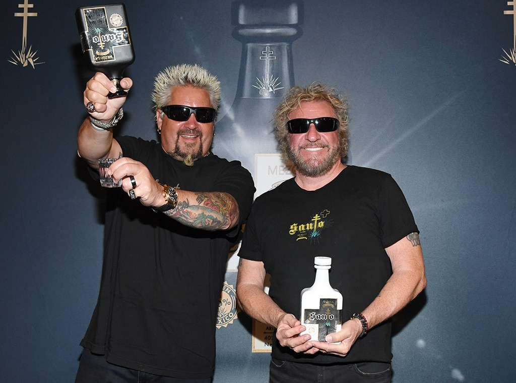 Sammy Hagar & Guy Fieri -  Talk about a unique collaboration! The legendary rocker and award-winning chef come together to create a new tequila titled Santo Fino Blanco launching in May 2019.