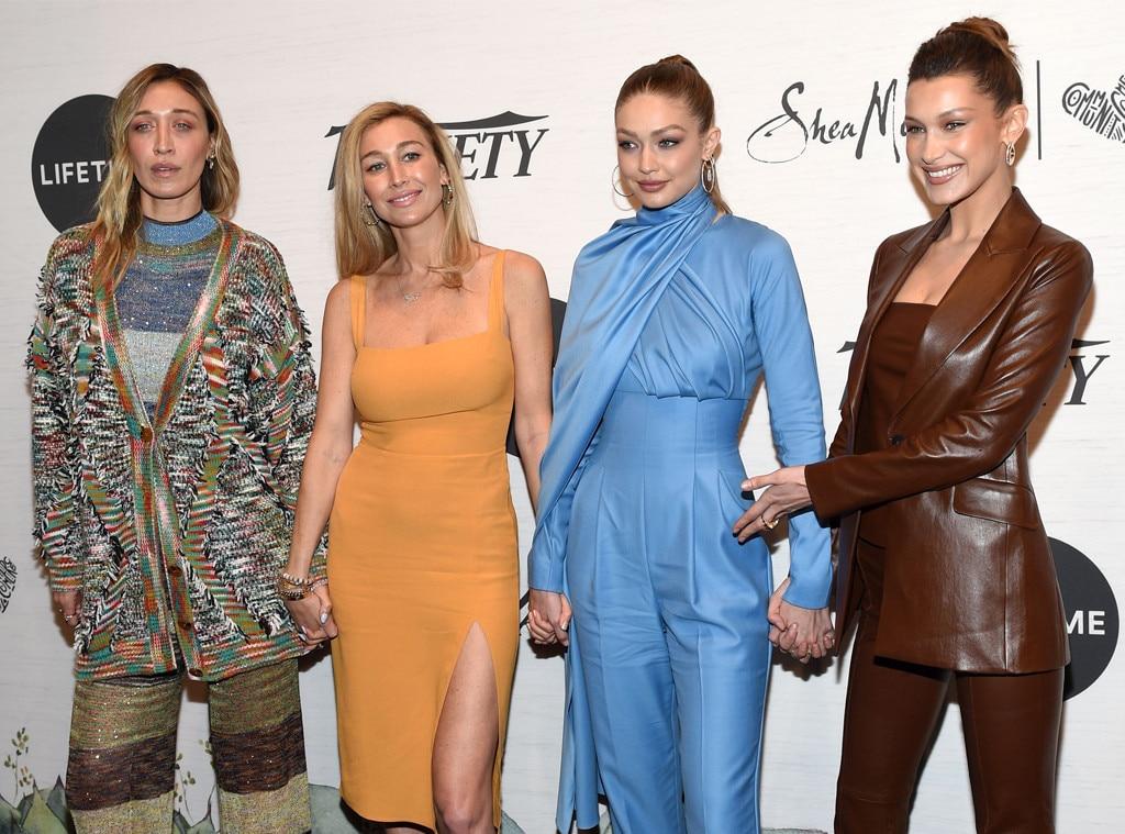 Alana Hadid, Marielle Hadid, Gigi Hadid & Bella Hadid -  Sister act! The Hadid siblings (minus Anwar) make a rare appearance together at  Variety's Power of Women  event in NYC.
