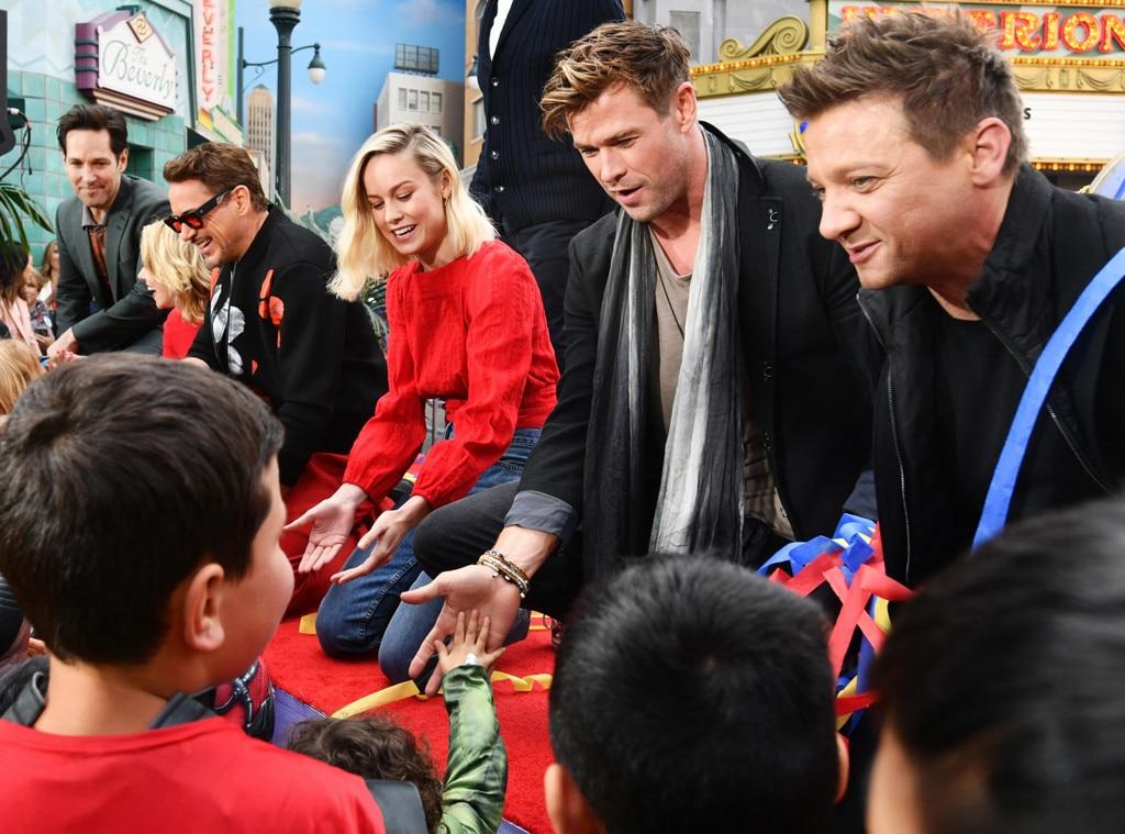 Paul Rudd, Scarlett Johansson, Robert Downey Jr., Brie Larson, Chris Hemsworth, Jeremy Renner, Disney California Adventure