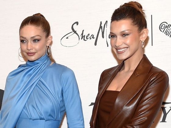 Bella and Gigi Hadid Twin on the Runway in Matching Dresses