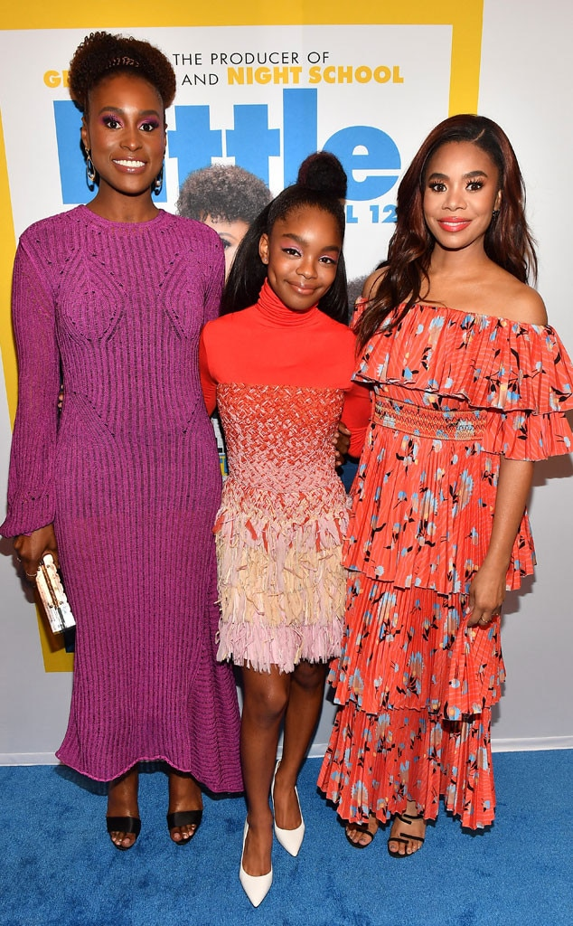 Issa Rae, Marsai Martin & Regina Hall -  Looking bright! The actresses are in spring spirit on the red carpet premiere for their film,  Little  in Atlanta.