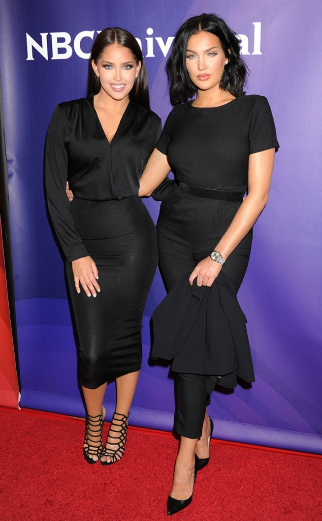 Monochrome Moment -  Nat and Liv coordinate just perfectly for this red carpet appearance.