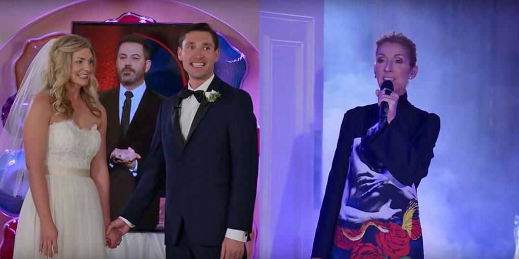 Celine Dion, Wedding, Las Vegas, Jimmy Kimmel Live!