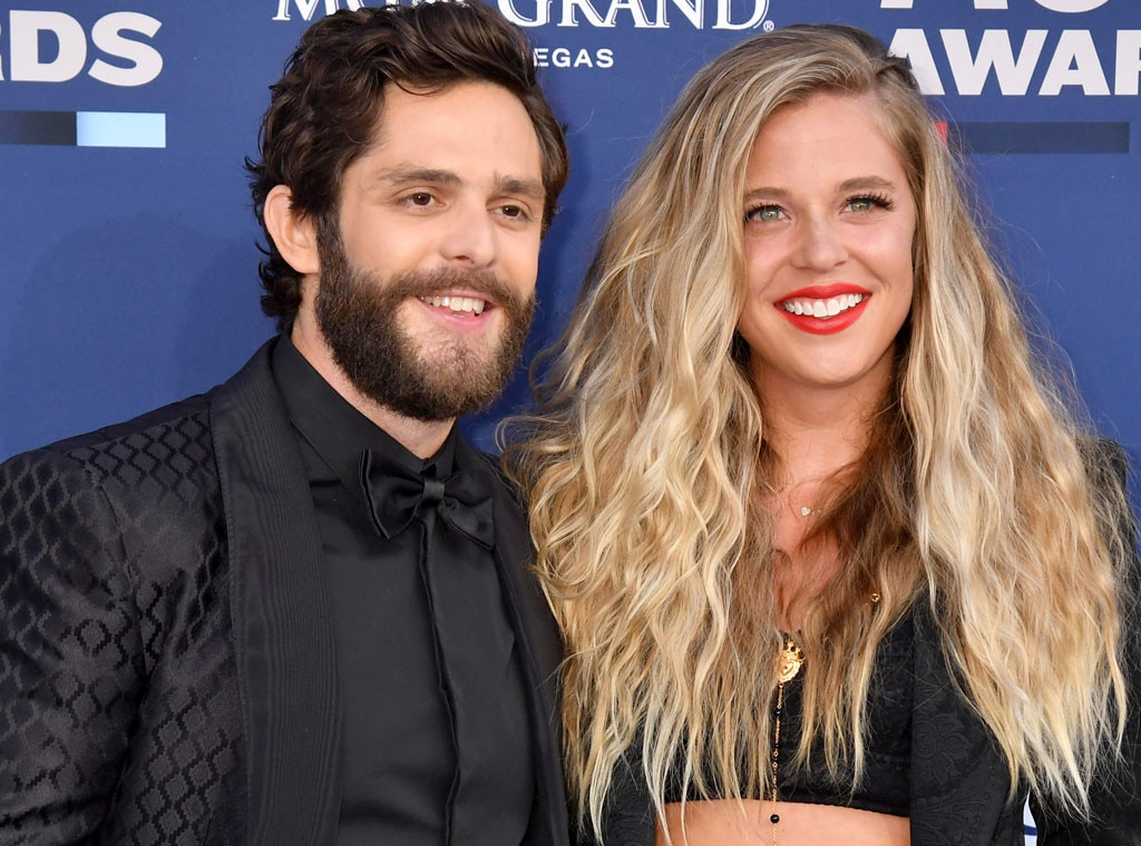 "Thomas Rhett & Lauren Akins's Hair -  Team  The Dry House  styled by  Alison Ryan  helped give this beloved couple winning hair looks in Las Vegas. For Thomas Rhett, the team went with an ""undone glam look"" while Lauren's look was described as ""lady danger"" that brought ""messy goddess vibes that really shows off her natural hair."""
