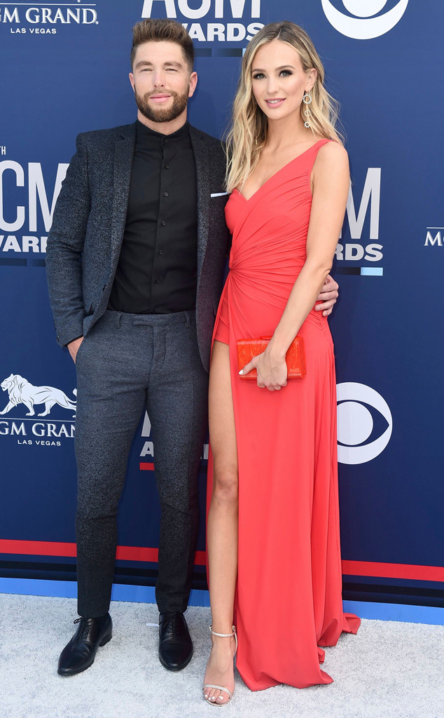 how did chris lane and lauren bushnell meet