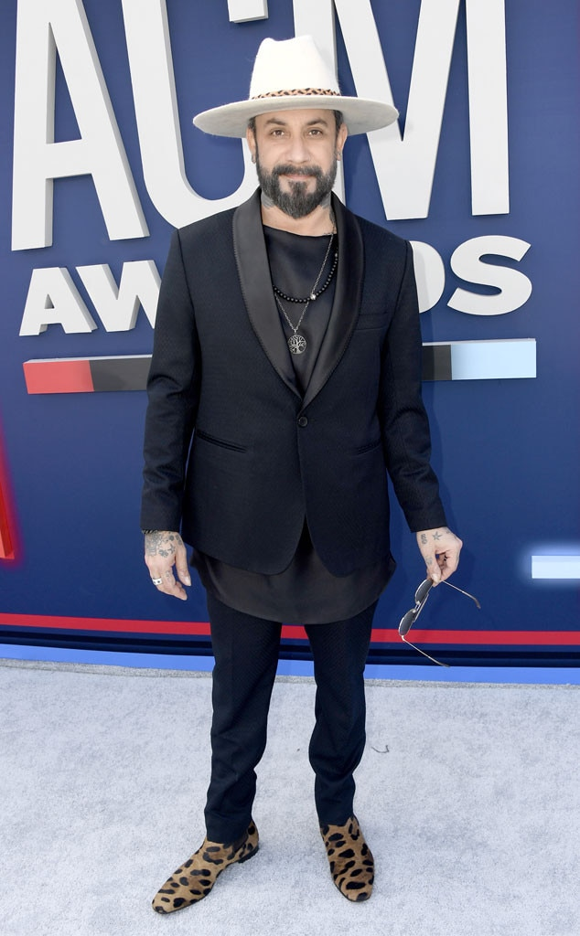 AJ McLean -  In between performing at his Las Vegas residency at Planet Hollywood, the Backstreet Boys member prepares to enjoy a night of country.