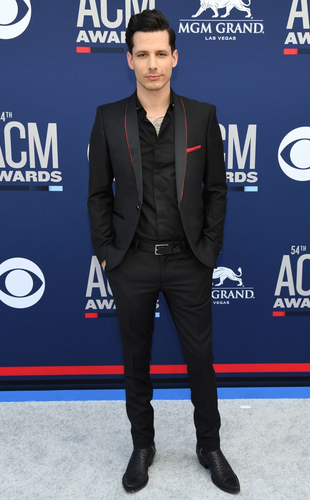 "Devin Dawson -  An all black outfit has never looked better on the ""All on Me"" singer."