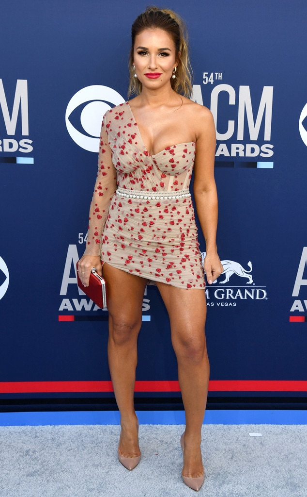 Jessie James Decker -  It looks like we have another red hot look on the country singer who is in town with hubby Eric Decker.