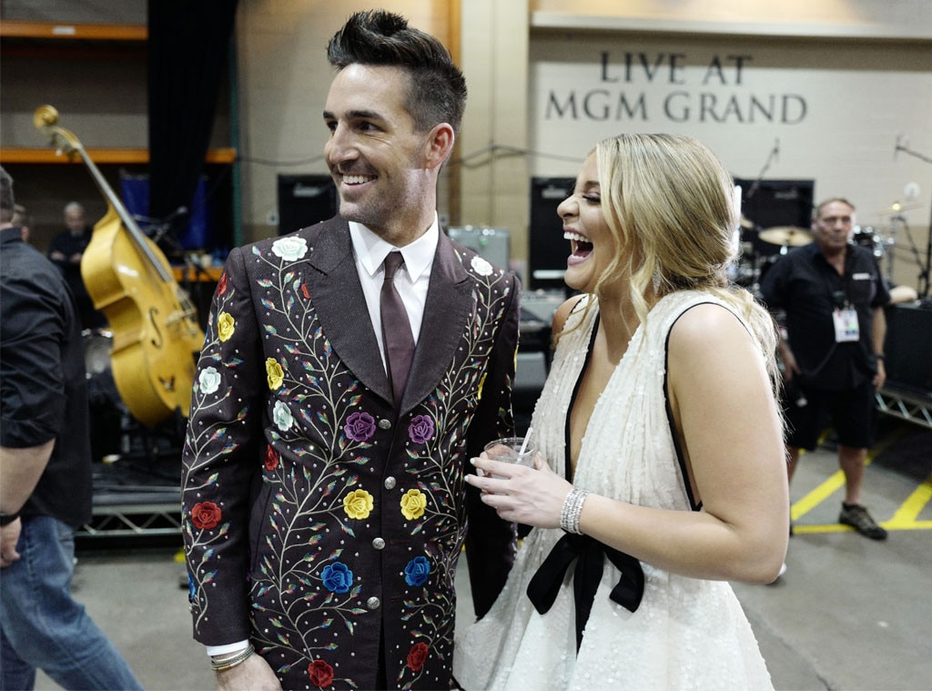 Jake Owen & Lauren Alaina -  The country stars shared a laugh at the show.