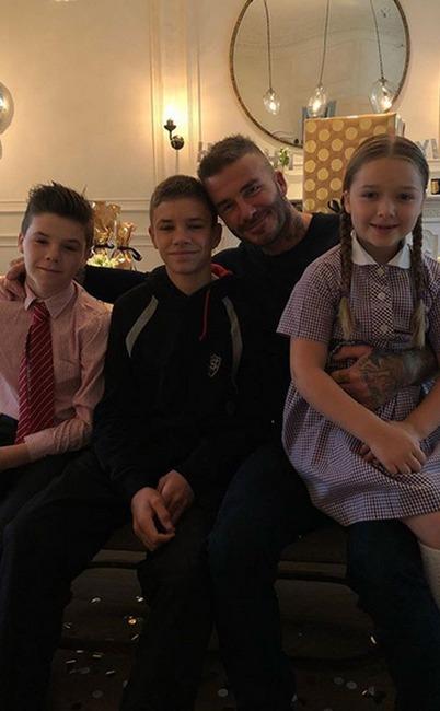 David Beckham, Cruz Beckham, Romeo Beckham, The Beckhams