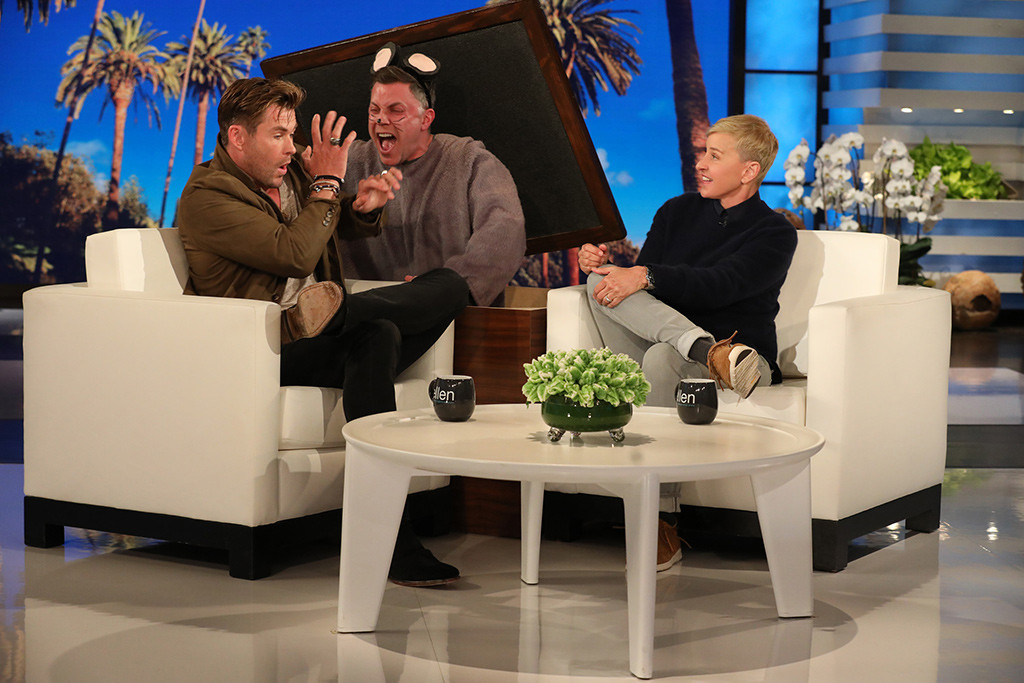 Chris Hemsworth, Ellen DeGeneres