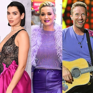 Dua Lipa, Katy Perry, Chris Martin