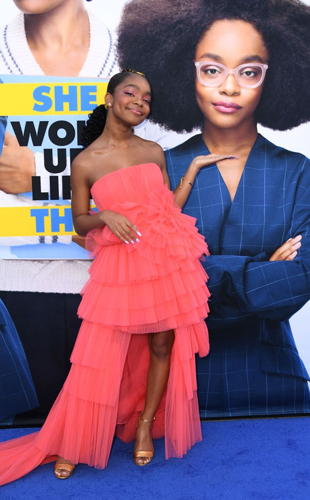 Marsai Martin -  Spotted! The actress has some fun on the red carpet at the Los Angeles premiere of Universal Pictures' latest film,  Little .