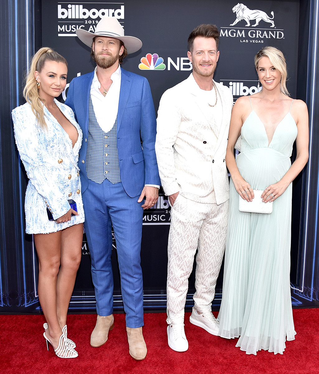 Brittney Marie Cole, Brian Kelley, Tyler Hubbard,Hayley Stommel 2019 Billboard Music Awards, Billboard Music Awards, Couples, Arrivals