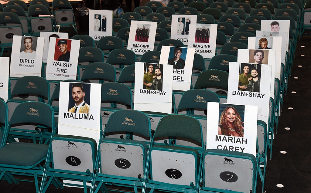 Maluma & Mariah Carey -  Before performingonstage with Madonna,  the Latin singer will take a seatin front ofbandmates  Shay Mooney  and  Dan Smyers . He's also taking over E!'s Instagram!