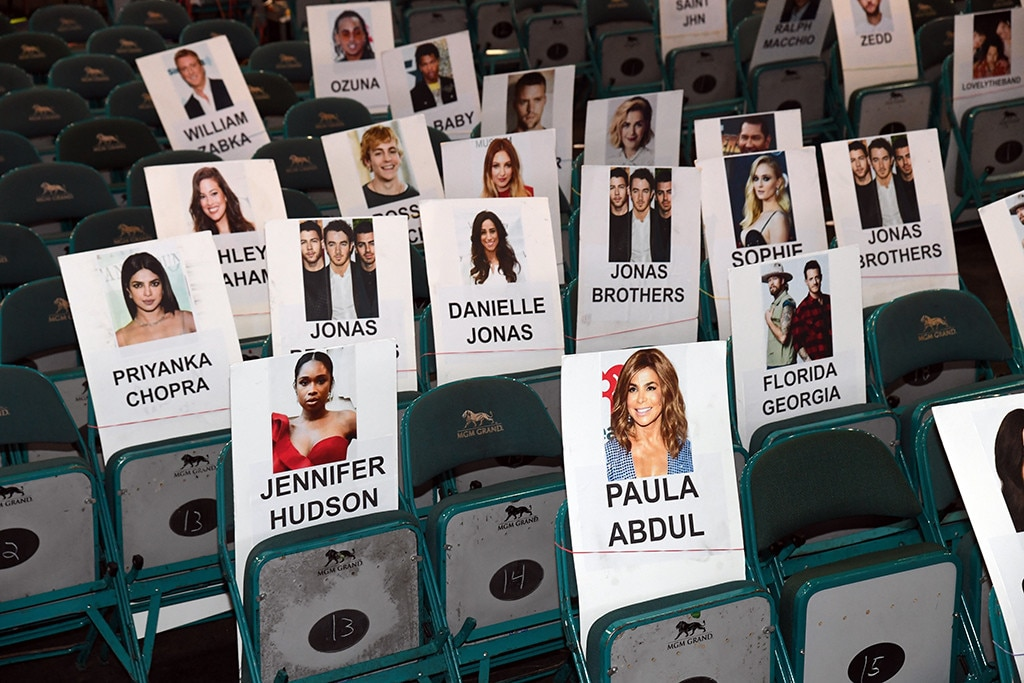 The Jonas Brothers -  A family gathering! Nick, Kevin and Joe—and their loves  Priyanka Chopra ,  Danielle Jonas  and  Sophie Turner —will be placed in the fourth row, behind  Jennifer Hudson ,  Paula Abdul  and  Cardi B  among others.