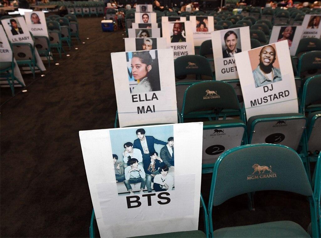 BTS, Ella Mai & DJ Mustard from 2019 Billboard Music Awards Seating