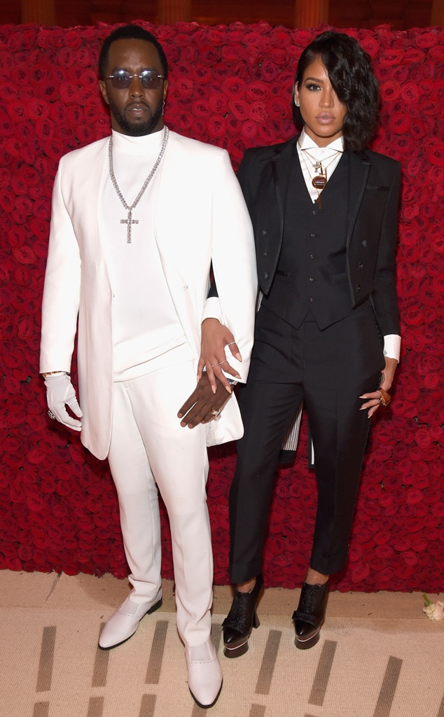 """Sean """"Diddy"""" Combs and Cassie -  After more than a decade together, theon-again, off-again couple called it quits in 2018. This photo shows the duo months before their split at the 2018 Met Gala, where they dressed for the theme """"Heavenly Bodies: Fashion and the Catholic Imagination."""""""