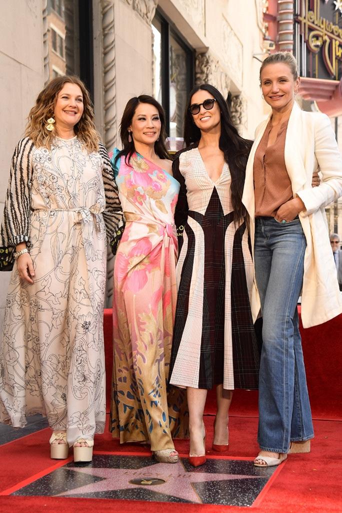 Drew Barrymore, Lucy Liu, Demi Moore, Cameron Diaz, Hollywood Walk of Fame