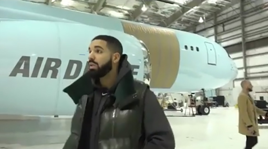 You Don't Want to Miss Drake's Tour of His New $100 Million Private Jet