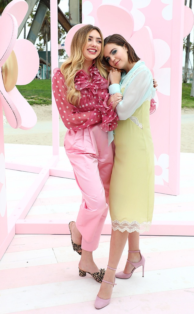 Peyton List & Bailee Madison -  Stop and smell the flowers! Peyton List &Bailee Madisoncelebrate the launch of the new Marc Jacobs Daisy Love Eau So Sweet fragrance at a pop-up event in Venice Beach, CA.