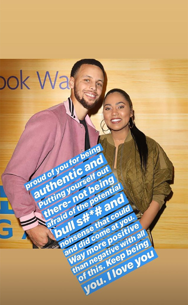 stephen curry defends ayesha curry after backlash over her