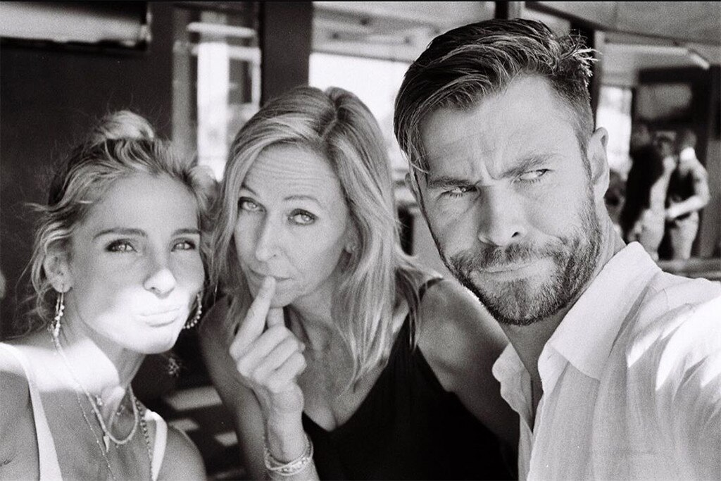 "Chris Hemsworth -  The  Avengers  star posted this photo him with wife  Elsa Pataky  and his mother  Leonie Hemsworth ,  writing , ""Happy Mother's Day to all the legendary mums out there!! Especially my two favorites here! We owe you the world . @elsapatakyconfidential #mum."""