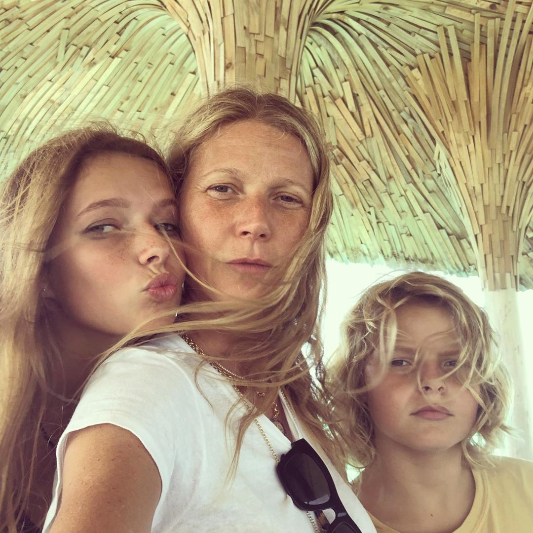 "Gwyneth Paltrow -  The actress posted this photo of her with daughter  Apple  and son  Moses ,  writing , ""Thank you to my two beauties for the best morning, and for my entire life. I love you both so much. I love all you mamas out there! Happy Mother's Day!!"""