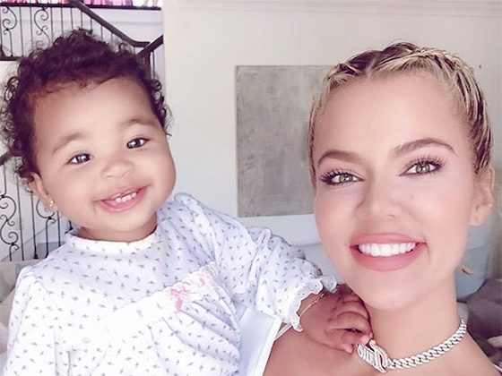 Khloe Kardashian and Daughter True Thompson Twin in Fierce Pajama Set