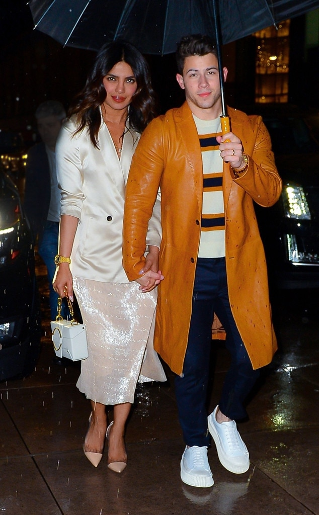 Priyanka Chopra & Nick Jonas -  The couple step out for SNL after party in rainy New York City.