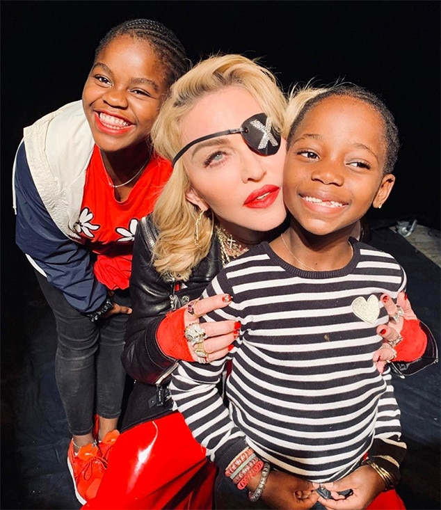 Madonna -  The pop queen posted this  photo  of two of her six children on Mother's Day.