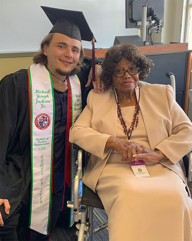 "Prince Packson -  The eldest son of the late  Michael Jackson  posted this photo of him and grandmother  Katherine Jackson  at his graduation from Loyola Marymount University in Los Angeles,  writing , ""Let's really celebrate the some of the strongest women I have been fortunate to know and love so closely in my life and who deserve recognition on Mother's Day."""
