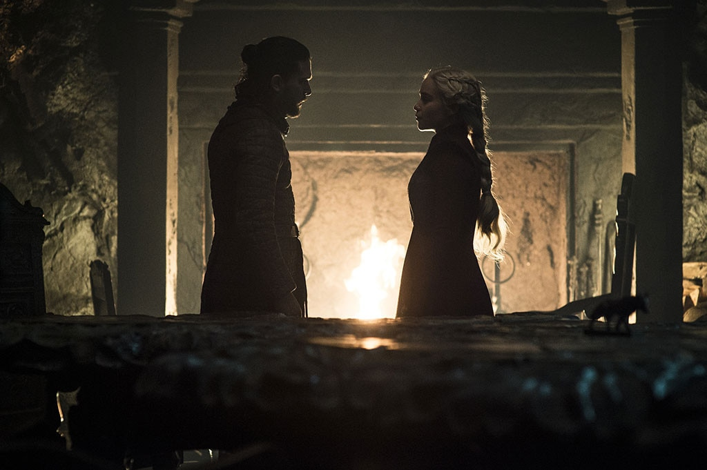 """Kit Harington on How We're All In Denial - Kit Harington  not only said critics """"can go f--k themselves"""" earlier this season, but he's  got no time  for our worries that Dany's story wasn't leading to what it ultimately led to.   """"But if you track Daenerys' story all the way back, she does some terrible things. She crucifies people. She burns people alive. This has been building. So we have to way to the audience: 'You're in denial about this woman as well. You knew something was wrong. You're culpable, you cheered her on.'"""""""