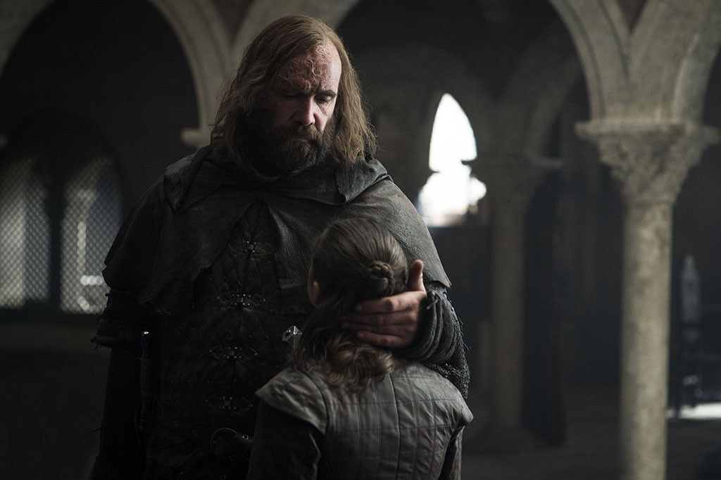 """Maisie Williams on The Hound's Advice -  Arya was actually on her way to kill Cersei, fulfilling a lot of our fantasies, until the Hound got her to turn back.   """"The Hound says, 'You want to be like me? You want to live your life like me?'"""" Williams told EW."""